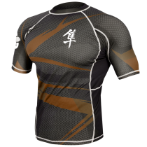 Metaru 47 Silver Rashguard Shortsleeve - Brown