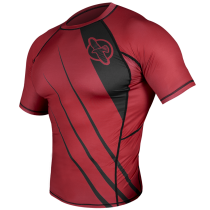 Recast Rashguard Shortsleeve - Red/Black