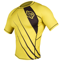 Recast Rashguard Shortsleeve - Yellow/Black